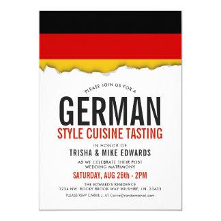 Tarjeta El blanco alemán de la bandera del fiesta de la