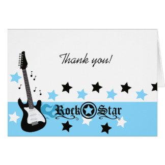 Tarjeta El *Blue* de la guitarra de la estrella del rock