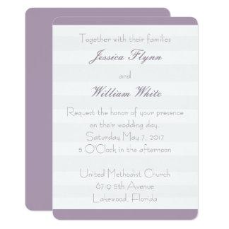 Tarjeta El boda blanco de la raya invita