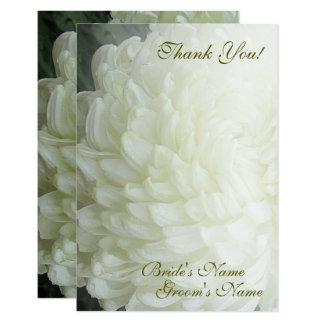Tarjeta El boda blanco del crisantemo del otoño le