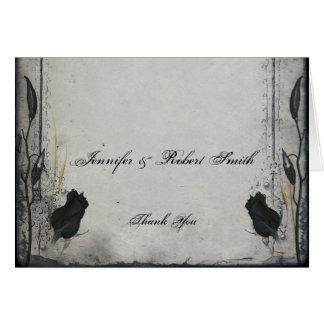 Tarjeta El boda color de rosa negro gótico del enrejado le