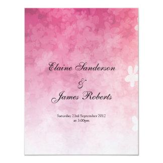 Tarjeta El boda de la flor de cerezo invita