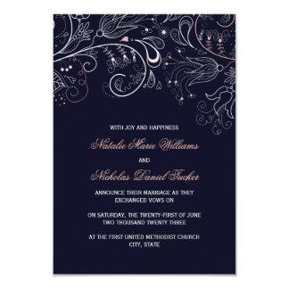 Tarjeta El boda de la marina de guerra w/Tulip- 3x5 del