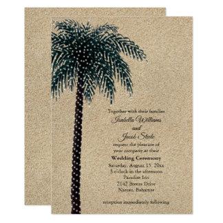 Tarjeta El boda de la palmera de las luces de la secuencia