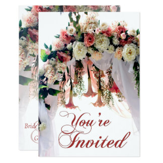 Tarjeta El boda del arco del boda de la flor de la