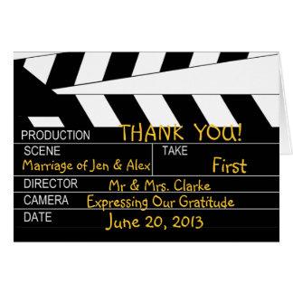 Tarjeta El boda del tema de la película le agradece