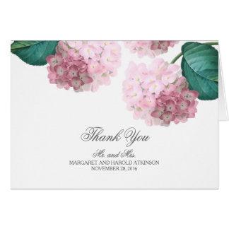 Tarjeta El boda floral del vintage rosado del Hydrangea le