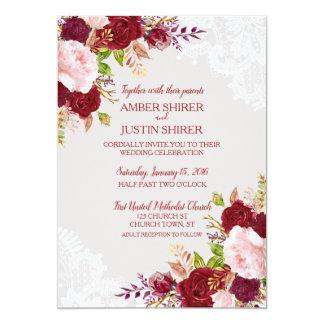 Tarjeta El boda floral elegante invita