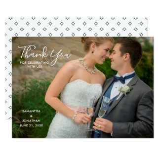 Tarjeta El boda horizontal de la foto le agradece