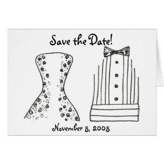 Tarjeta El boda, novia, novio, ahorra la fecha