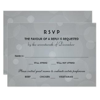 Tarjeta El boda RSVP carda el negro del | y el gris del