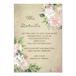 Tarjeta El boda rústico color de rosa rosado del vintage
