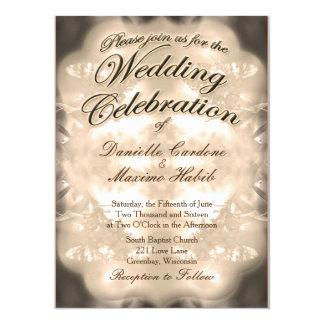 Tarjeta El boda rústico del país del vintage invita por