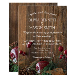 Tarjeta El boda rústico elegante del invierno invita