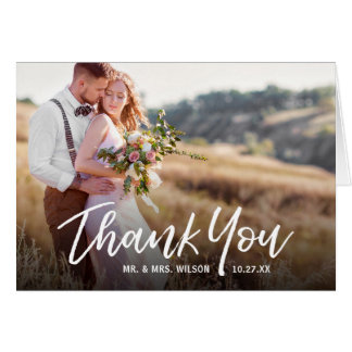 Tarjeta El boda rústico manuscrito le agradece las