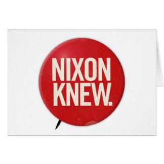 Tarjeta El botón político Nixon de Richard Nixon del