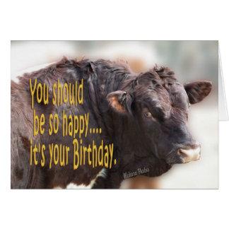 Tarjeta El bravo Bull Cumpleaños-personaliza