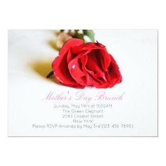 Tarjeta El brunch elegante del día de madre con un rosa