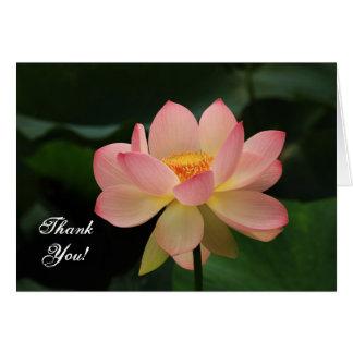 Tarjeta El budista rosado de la flor de Lotus de la