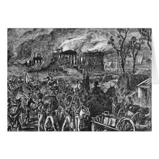 Tarjeta El Burning de Washington, 1814