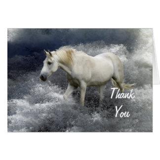 Tarjeta El caballo blanco y el océano de la fantasía le
