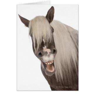 Tarjeta El caballo de Comtois es un caballo de proyecto -