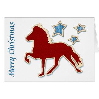 Tarjeta El caballo islandés protagoniza Felices Navidad