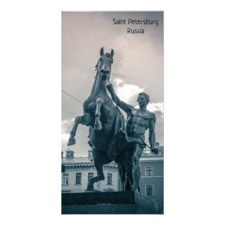 "Tarjeta ""El caballo Tamers"", St Petersburg, Rusia"
