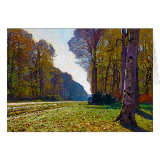 Tarjeta El camino de Chailly Claude Monet fresco, viejo,