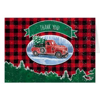 Tarjeta El camión del vintage de las Felices Navidad le
