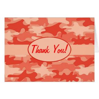 Tarjeta El camuflaje anaranjado de Camo le agradece de