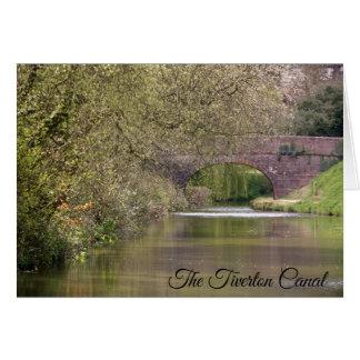 Tarjeta El canal de Tiverton, Devon, personalizado