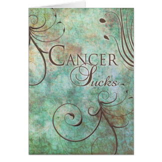 Tarjeta El cáncer chupa