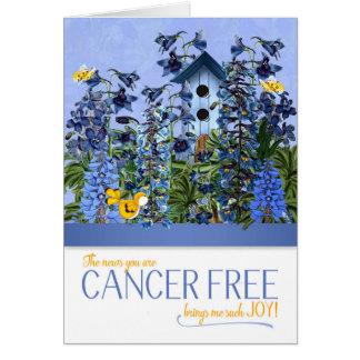 Tarjeta El cáncer libre me trae el azul Larkspur de la