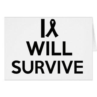 Tarjeta el cáncer sobrevive