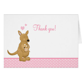 Tarjeta El canguro le agradece las notas - mamá y los