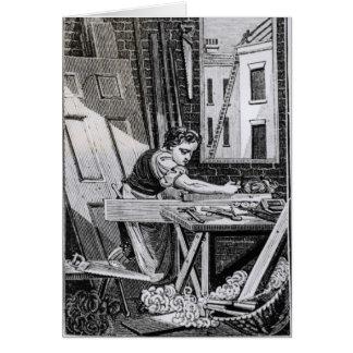 Tarjeta El carpintero