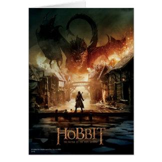 Tarjeta El cartel de película de Hobbit - de Laketown