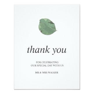 Tarjeta El casarse de las hojas de la acuarela le agradece