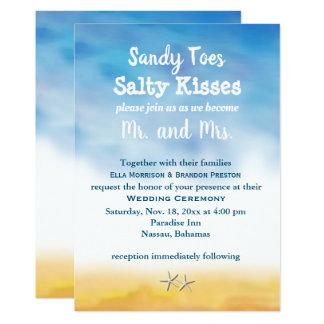 Tarjeta El casarse de los dedos del pie de Sandy de la