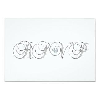 Tarjeta El casarse de plata blanco elegante personalizado