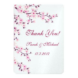 Tarjeta El casarse floral de las flores de cerezo le