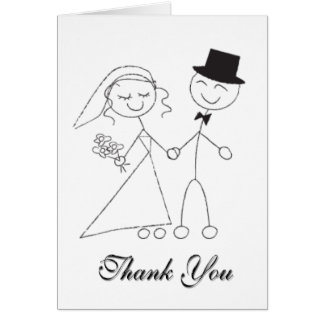 Tarjeta El casarse le agradece las gracias nupciales del