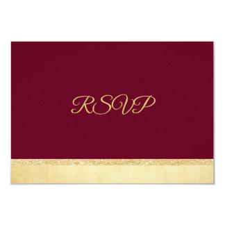 Tarjeta El casarse personalizado de RSVP del oro de