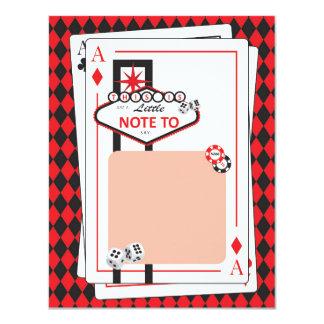 Tarjeta El casino/la noche de Las Vegas - fiesta adulto -