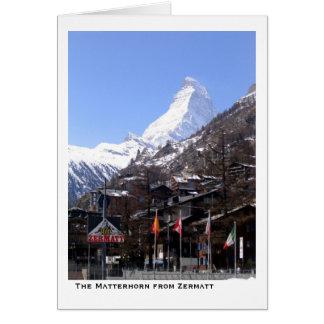 Tarjeta El Cervino de Zermatt