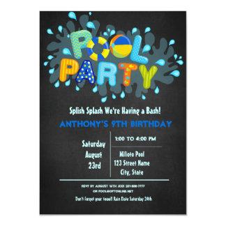 Tarjeta El chapoteo azul de Splish viene a nuestra fiesta