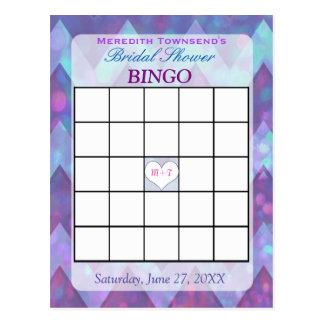 Tarjeta el | Chevron púrpura del bingo Postal