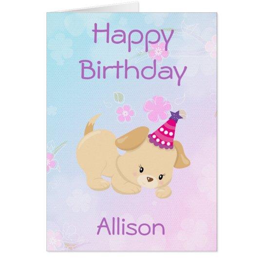 Tarjeta El chica del feliz cumpleaños personaliza