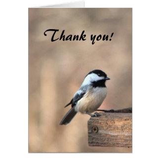 Tarjeta El Chickadee le agradece